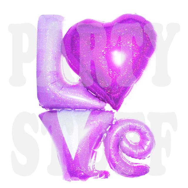 фольгированный шарик love розовый