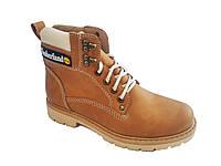 Зимние ботинки женские в стиле Тимберленд коричневые