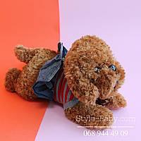 Мягкая собачка игрушка в платье
