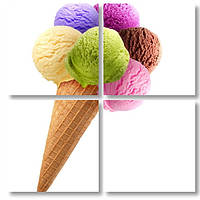 Модульная картина мороженое