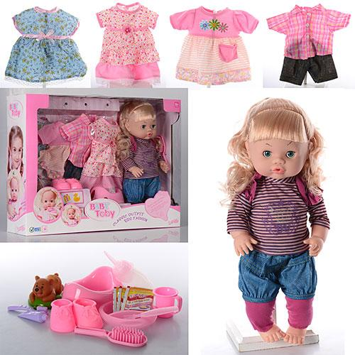 Кукла 30800-6C  39см,звук,наряды4шт,бутылочка,горшок,тарелка,каша,в кор-ке,55,5-41-13,5см