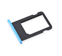 Лоток для сим карты iPhone 5C, голубой