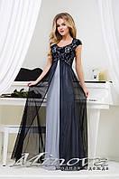 """Нарядное вечернее длинное платье в расцветках в пол с гипюром """"Виринея"""" раз.42-44,46-48"""