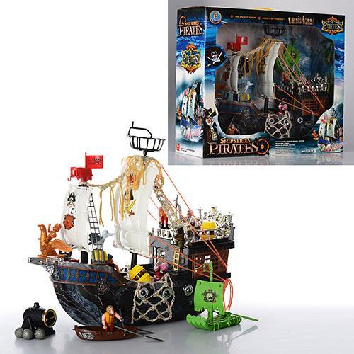 Корабль пиратов 50838 C  42-33-15см, фигурки, плот, пушка, в кор-ке, 48-42-20см