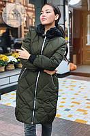 Куртка теплая, материал плащевка, Наполнитель: холофайбер  Цвет-черный,хаки Китай гн № 318-880