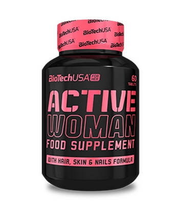 Вітаміни для жінок Active Woman BioTech USA - 60 таб, фото 2