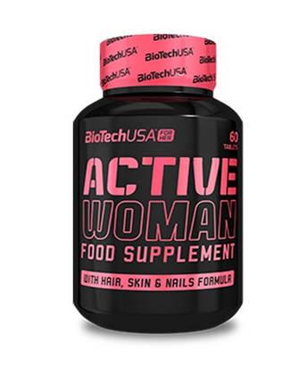 Вітаміни для жінок Active Woman BioTech USA 60 tabs, фото 2