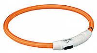 Светящийся ошейник Trixie Safer Life USB 65 см оранжевый