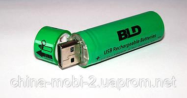 Акумулятор BLD USB Rechargeable Batteries Li-ion 18650 3800mAh 3.7v green