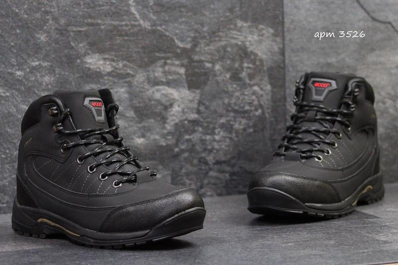 a936cbcfbb1499 Чоловічі зимові кросівки Ecco Proof чорні (3526)