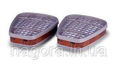 3М 6055 Сменный фильтр  для защиты от органических газов и паров (класс защиты A2), для масок серии 6000