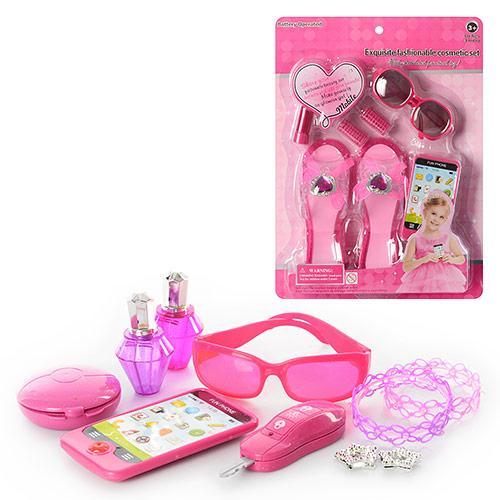 Набор аксессуаров LM5515A  туфли18см,телефон,очки,бигуди,на листе,28-38-5см