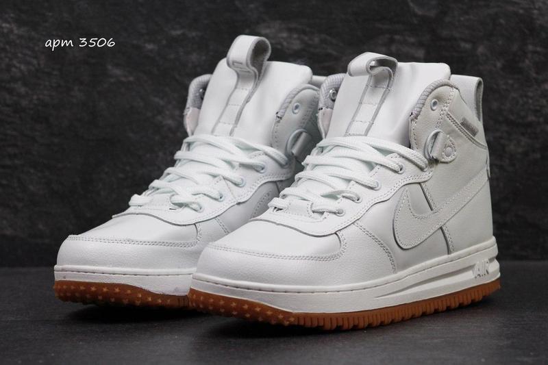 a83fc8054f62d7 Чоловічі зимові кросівки Nike Lunar Force LF1 білі (3506)