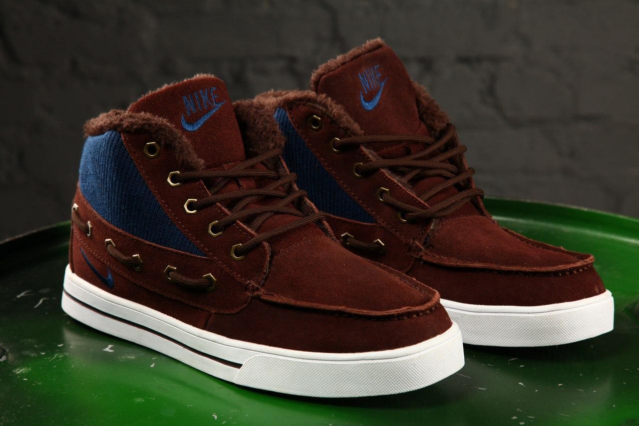 b6f03615 Мужские зимние кроссовки Nike High Top Fur Brown, Копия: продажа ...
