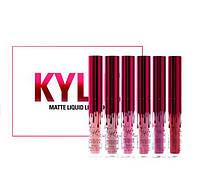 Набор жидких помад Matte Liquid Lipstick Kylie Valentine Collection - 6шт