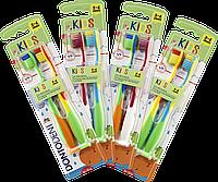 Зубная щетка Dontodent KIDS от 3 до 6 лет с присоской либо отверстием для крючка, 2шт