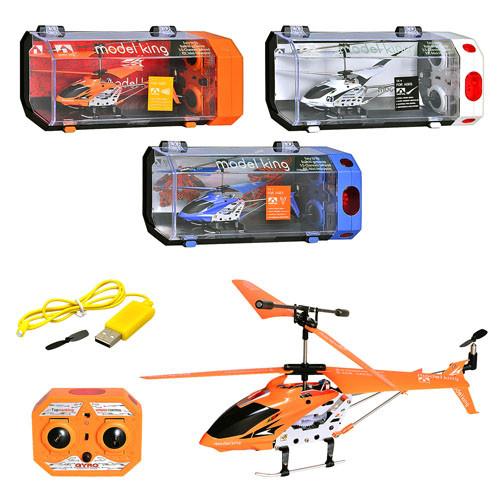 Р/У Вертолет 33008  гироскоп, аккум, 3-х канальный пульт ДУ, мет+пластик, в кор-ке, 28-14-10см