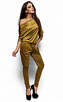 Стильний золотистий жіночий комбінезон Jo-Lee