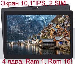 Планшети 10 дюймів Yuntab K107, Android 7 1/16Gb 2Sim/3G