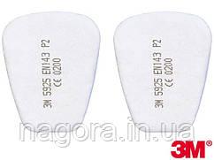 3М 5925 Сменный противоаэрозольный фильтр, класс защиты Р2 R, для масок серии 6000, 6500, 7500