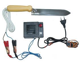 Нож пасечный с электроподогревом из нержавеющей стали Гуслия с блоком питания и регулятором мощности