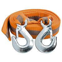 Трос буксировочный 3,5 тонны, 2 крюка, пакет STELS 54373
