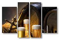 Модульная картина бокалы с пивом