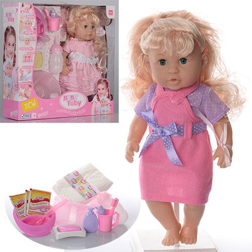 Кукла 30801-C2-C4   35см,зв,горшок,бутылочка,посуда,подгузник,2вида,в кор-ке,38-38-11,5см