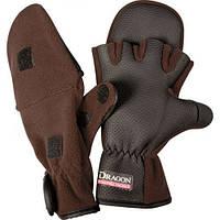 Перчатки Dragon флис/теплые с откидной варешкой/обрезан,пальц