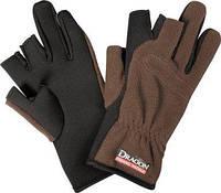 Перчатки Dragon флис/теплые коричневые 3-пальца