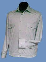 Форменная рубашка салатовая на длинный рукав