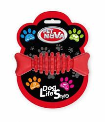Іграшка для собак Кісточка SuperDent Pet Nova 12 см червоний