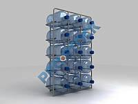 Стеллаж для воды на 15 бут.