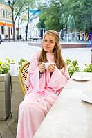 Розовый плед с рукавами. Идеальный подарок. Микрофибра 150*200