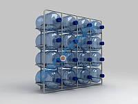 Стеллаж для воды на 16 бут.