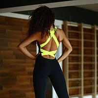 Спортивный сексуальный комбинезон Желтый цвет размер в наличии S, M