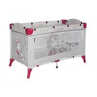 Детский манеж-кровать Bertoni ARENA 2L (grey girl), матрас в комплекте