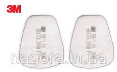 3M 5911 Сменный противоаэрозольный фильтр, класс защиты Р1, для масок серии 6000, 6500, 7500