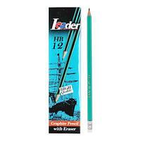 Олівець графітний, з гумкою, Арт.655