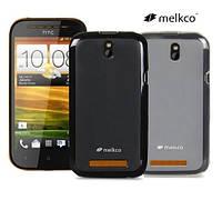 Чехол для HTC One SV/ST с520e/t528t - Melkco Poly Jacket TPU (пленка в комплекте)