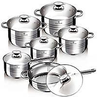 ТОП ВЫБОР! Набор посуды Blaumann Gourmet Line BL-1031, 1002186, Blaumann Gourmet Line BL-1031, Blaumann BL-1031, 1002186, Набор кастрюль blaumann,