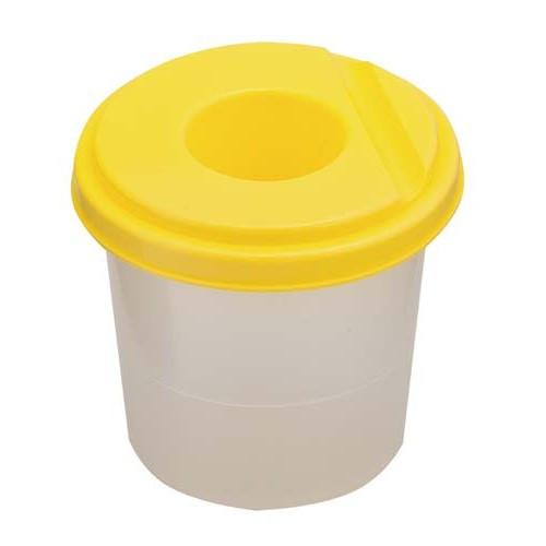 Стакан -непроливайка, жовтий