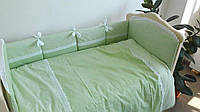 Постельное белье в кроватку салатовый 3 ед.
