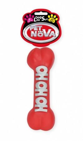 Іграшка для собак Кістку з написом 23 см червоний