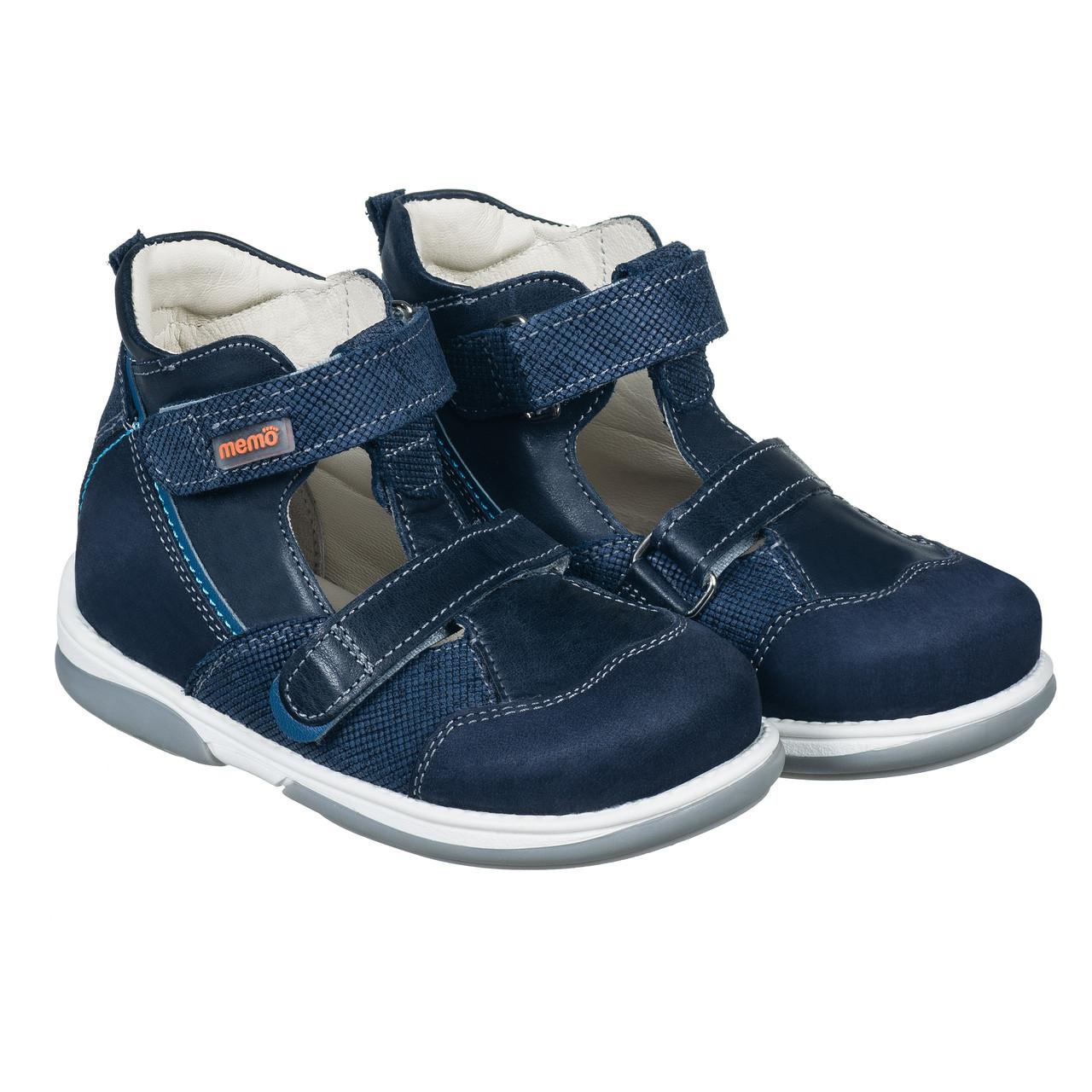 9974030ebecb24 Memo Torino 3DA Синие - Ортопедические туфли для детей (р.22-29 ...