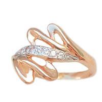 Золотое кольцо с фианитом 1-626