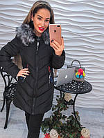 Молодежная демисезонная женская куртка на синтепоне
