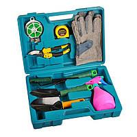 Набор садовых инструментов 9 предметов 1001993 , Набор садовых инструментов, набор садовых инструментов, набор садовых инструментов в чемодане,