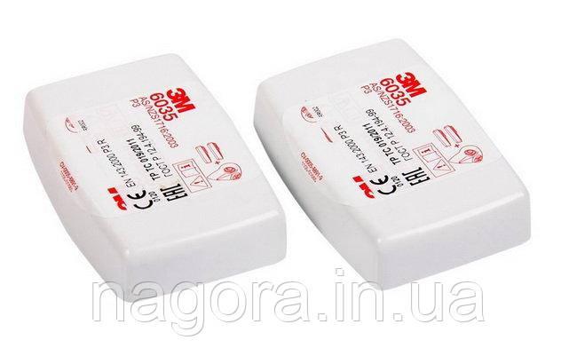 3M 6035 P3 Противоаэрозольный фильтр повышенной эффективности, пластиковый корпус