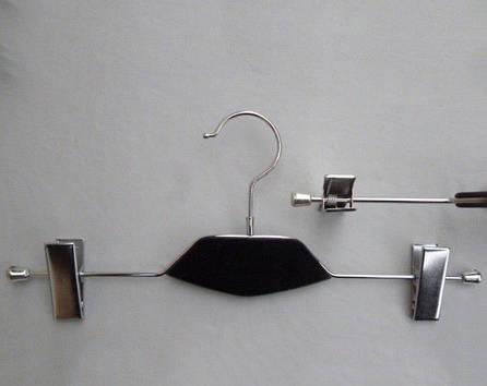 Плечики металлические с вставкой из дерева черного цвета , 35 см